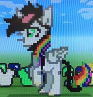 Pixel lightning bliss in minecraft by hthom32