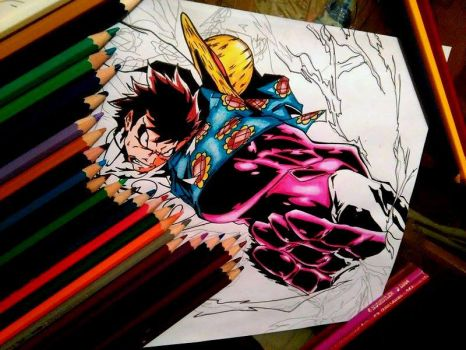 One piece  ! Haki ...! Luffy :)  Gear 5 by salemboussif