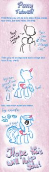 Pony Drawing tutorial! by PlaviLeptir
