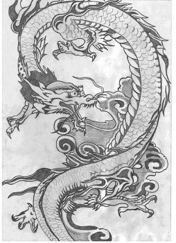 Traditional Japanese Dragon by antsa00