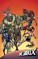 Hack Slash 32 cover color by ColtNoble