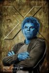 X-Men: Beast: Anisotropic Paint Edit by nerdboy69