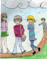 the walk home colored by toastles