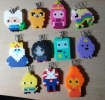 Adventure Time Cast  - Keychains by IAmArkain