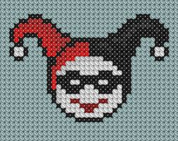 Harley Quinn Cross Stitch by drsparc