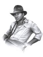 Indiana Jones Sketch by D17rulez