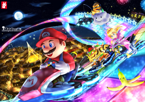Mario Kart 8 - Rainbow road by chinchongcha