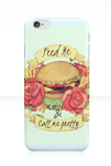 Call me pretty - Burger and Flowers Tattoo Phone by SugarHit