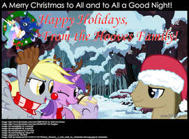A Hooves Family Christmas Card by TheJBW