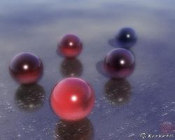 Red marbles by OfTheDunes
