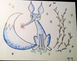 The red nose of the Blue fox by Gingerspine