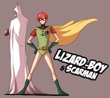 LIZARD-BOY...and his assistant by VenaMalfoy