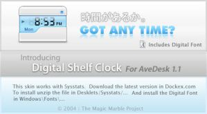 Digital Shelf Clock by HybridRainbow2004