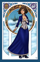 Art Nouveau Elizabeth by hermit-homeboy