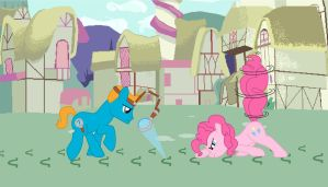 On the Case with Tintin and Pinkie Pie by uniquecomicfreak2580