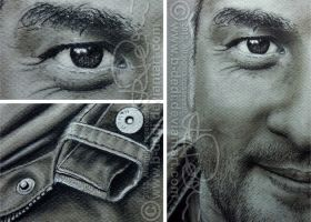 DRAWING / PORTRAIT IN UMBRA - close up by b-Dedi
