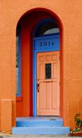 paseo door orange by jetsetaphrodite