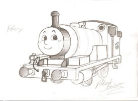 Percy the small engine by Robie-Chan