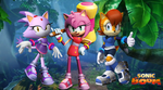 Sonic Boom Amy, Blaze and Sally Wallpaper by Silverdahedgehog06