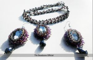 St. Petersberg Chain Necklace with Earrings by mariachughtai