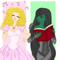 Glinda and Elphie by Sailor-Serenity