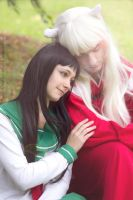 A Silent Moment - Inuyasha and Kagome Cosplay by SchneeAmsel