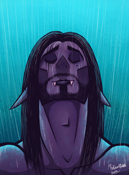 Vladermov being rained on by TheDeviantArtist07v