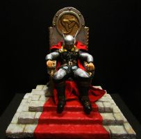 THOR on Throne painted by mycsculptures