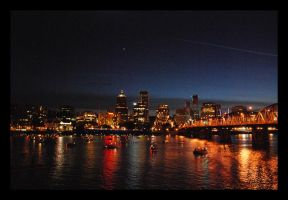 Portland at Night by eternalicicle