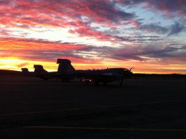 EA6B Prowler sunrise by ShannonCPhotography