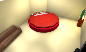 MMD Hotel room with round bed by amiamy111