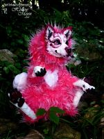 Pink Fantasy Wolf  Doll 3 by Hollow-Moon-Art