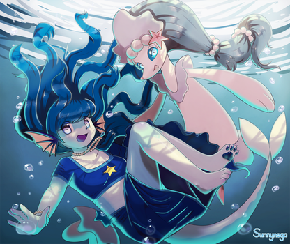 [ADMxPKMN] Tubukal and Primarina by Sunnynoga
