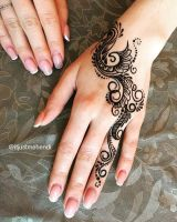 Simple mehndi design for back of the hand by hennamk