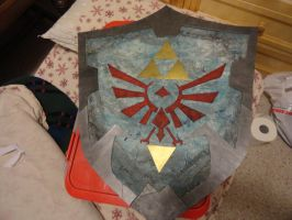 LOZ Shield Finished! by TeaBeeAdventures
