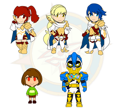 Assorted Chibis - Heroes or...? by Dragon-FangX