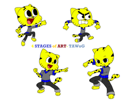 4 Stages of Art- TAWoG NG by TAWoGFan2000