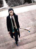Loki Cosplay: Arrival in Stuttgart by Abessinier