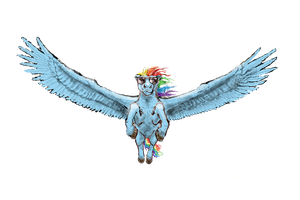 Rainbow Dash Transparency by Pwnyville