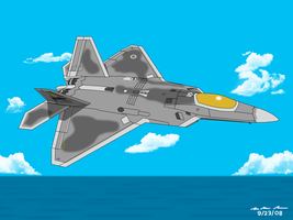 F-22A Raptor - Ocean Attack by BoggeyDan