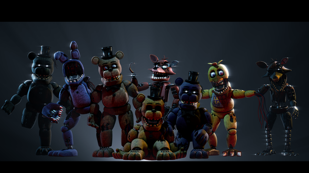 [FNAF SFM] All Withereds, Release by half5life