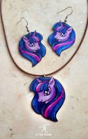 Twilight Sparkle Jewelry Set by TrollGirl