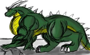 A giant, monstrous dragon by EmotionCreator