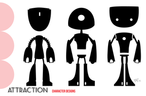 Attraction :: Robot Silhouettes by MissWiggle
