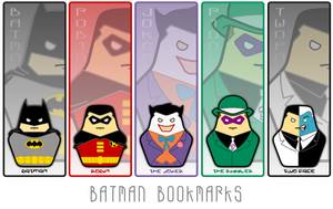 Batman Bookmarks by TriCornDesign