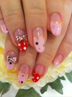 bow nail art by Madhurupa