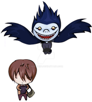 Light and Ryuk by nucchiin