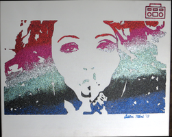 Jesy Nelson Little Mix Glitter Painting by sphili