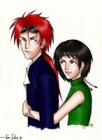 Reno and Yuffie : for Sabriel by SabreSoul