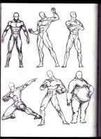 Pose sketching, traditional. from sketchbook by SamMuk1R1
